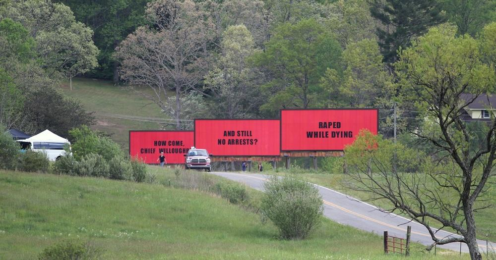 Image result for photo of the three billboards from the movie