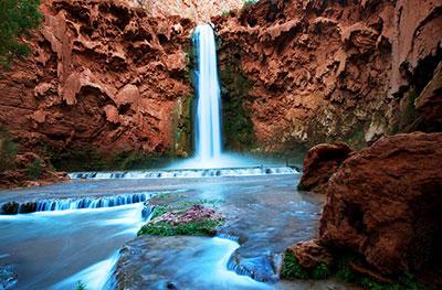 Havasu Falls Arizona Wallpaper Havasupai Tribe Halts Commercial Hiking Trips Following
