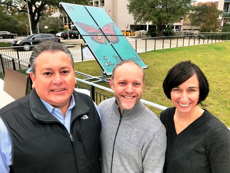 project partners Robert Mendoza, Robert Ferry, Elizabeth Monoian