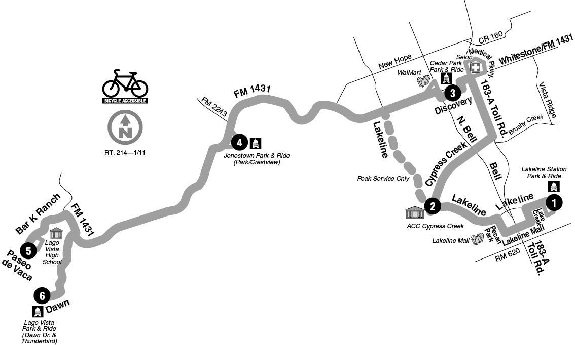 Google Map Shows Where CapMetro Buses Could Run In Cedar