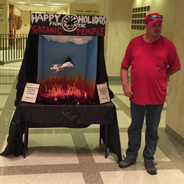 Illinois Capitol Satanic Display