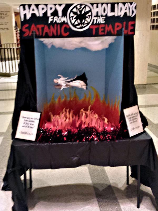 Satanic Temple Florida Christmas Display