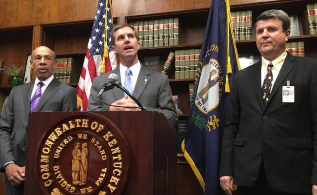 Kentucky Primary 2019 Andy Beshear Builds Campaign On