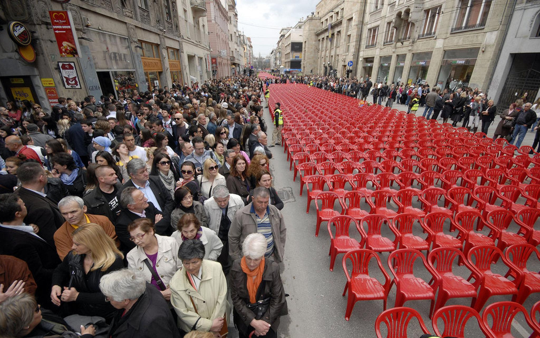 red chairs sarajevo best back massager for chair peace justice elude rape victims of bosnian war sdpb radio