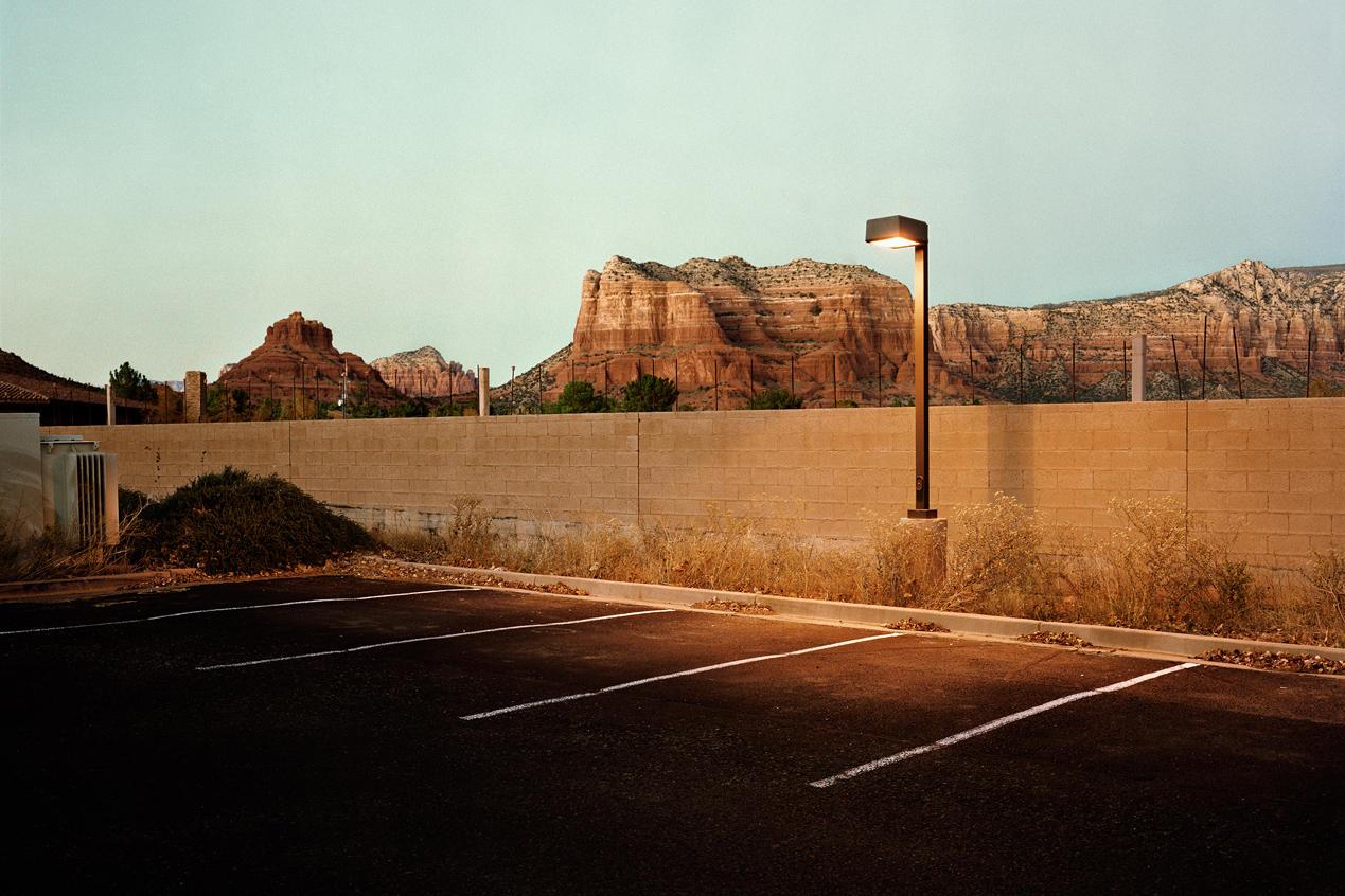 hight resolution of parking lot sedona ariz 2010