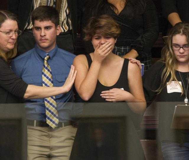Fla Where A Young Man Gunned Down  People React As The States House Of Representatives Voted Not To Hear A Bill Banning Assault Rifles