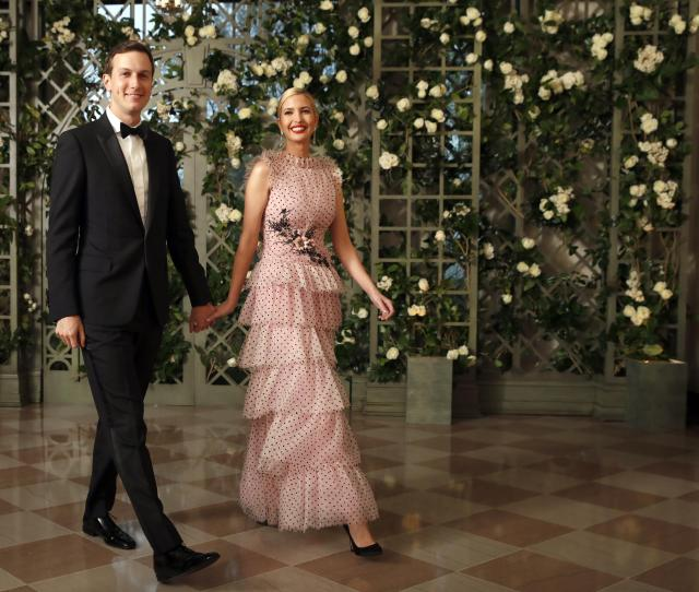 Jared Kushner And Ivanka Trump Arriving For The State Dinner In April Have Held Positions In More Than 200 Companies And Organizations