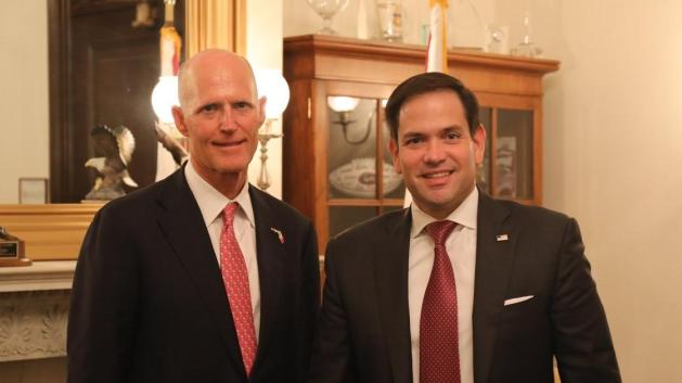 Image result for images of rick scott and marco rubio