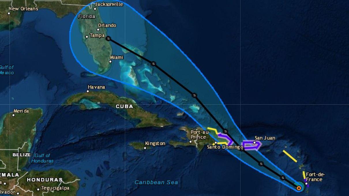 tropical storm dorian puts