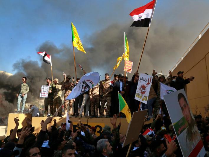 Protesters Attempt To Storm U.S. Embassy In Baghdad | WDIY