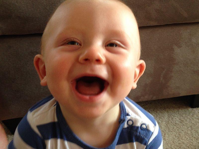 When Infants Do Laugh Start