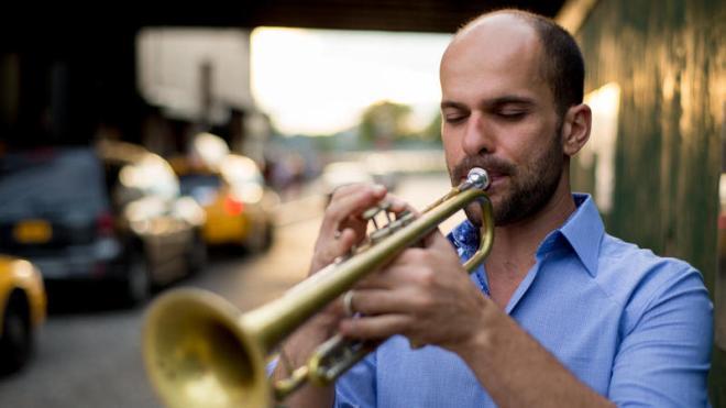 Trumpeter Amir ElSaffar, whose most recent album is 'Rivers of Sound'