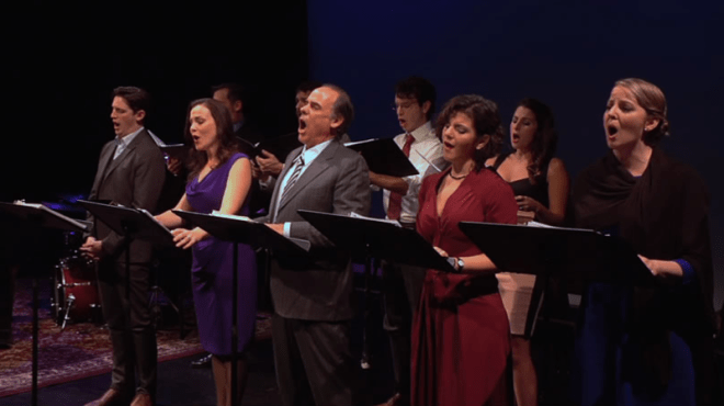 Singers performing Ted Rosenthal's jazz opera, 'Dear Erich'