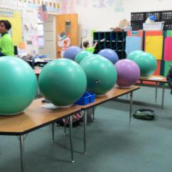 Ball Chairs For Students Personalized Chair Baby Davidson Elementary Class Trades Stability