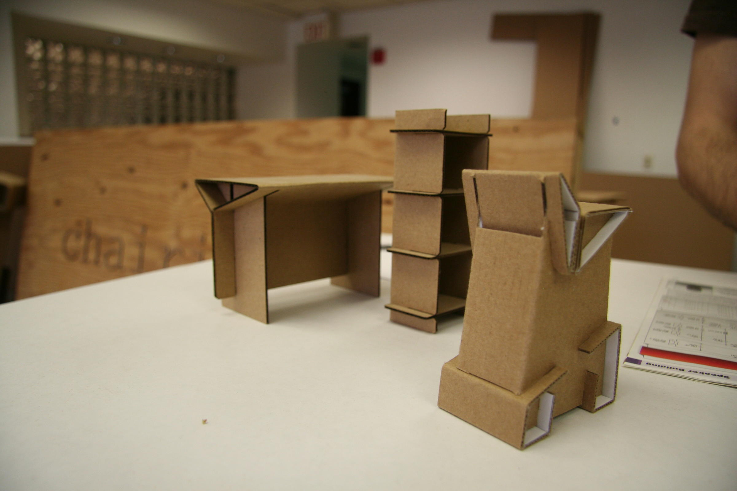 How To Make A Cardboard Chair New Haven Cardboard Furniture Company Goes Beyond One Man