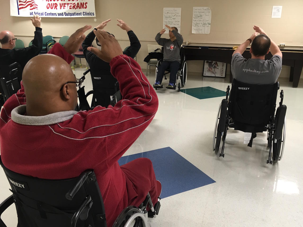 wheelchair fight hospital chairs that recline to control pain battle ptsd and other ills tennessee vets thomas sales says tai chi has helped him with his during panic attacks he