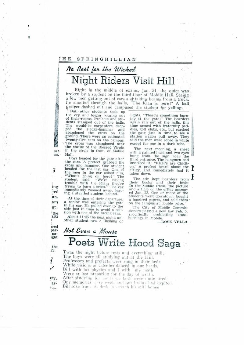 50 Years Since King's Letter Recalls Spring Hill as Civil