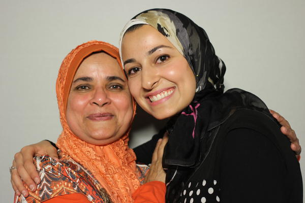 A picture of the slain Yusor Abu-Salha with her former teacher.