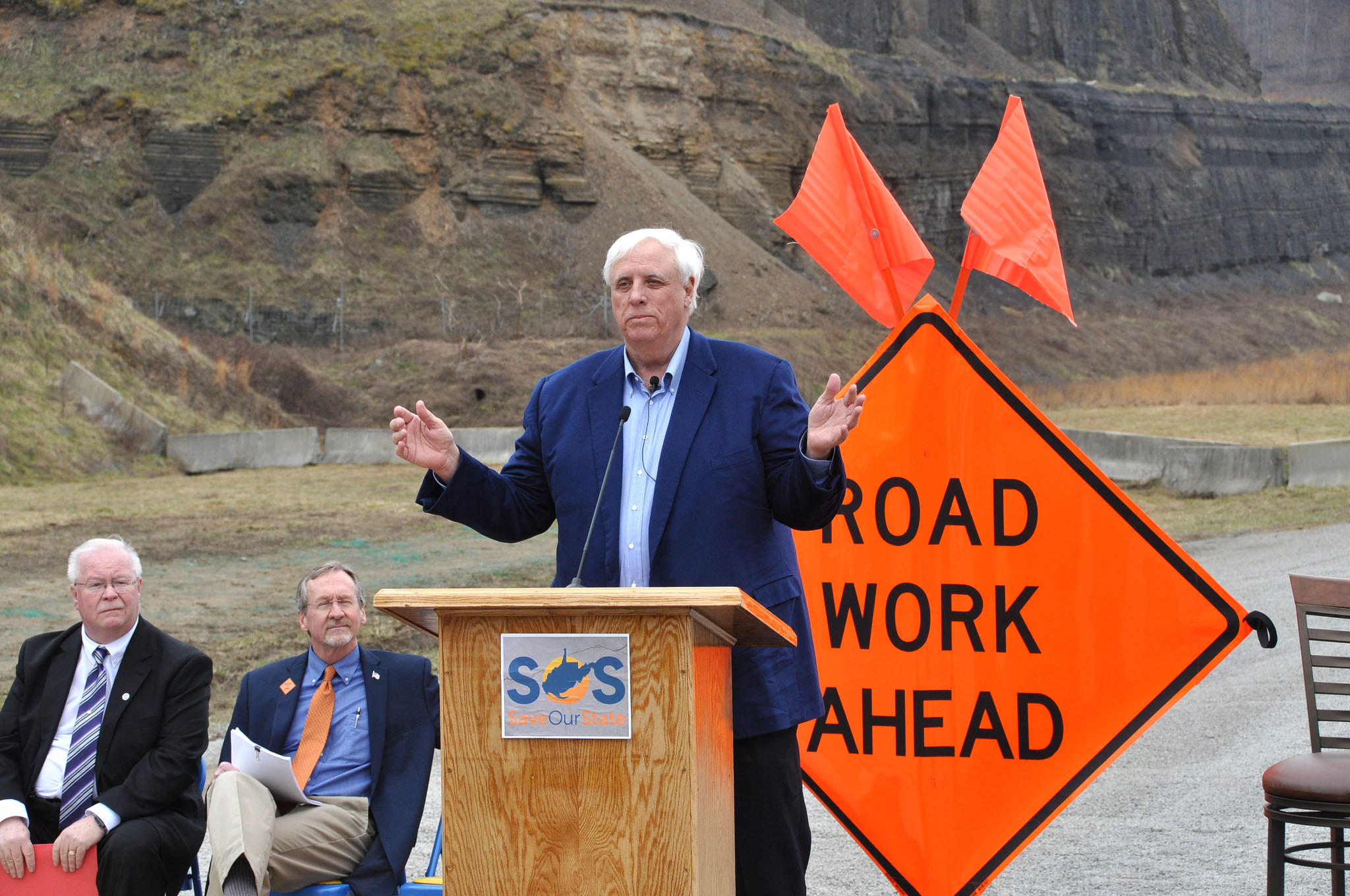 Justice Touts Highways Construction Plan In Statewide Tour