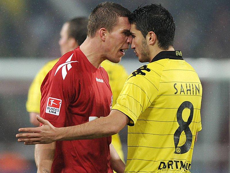 Riskiert gerne mal die dicke Lippe: Lukas Podolski (l.) vom 1. FC Köln (Foto: kicker.de)
