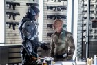 "Joel Kinnaman, left, and Jackie Earle Haley star in Columbia Pictures' ""Robocop."""