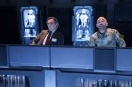 "Gary Oldman, left, and Jackie Earle Haley in Columbia Pictures' ""RoboCop,"" starring Joel Kinnaman."