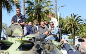 """""""The Expendables 3"""" Stunt Photocall & Press Conference"""