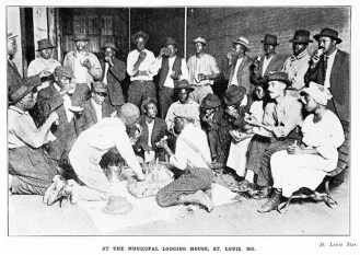 At the Municipal Lodging House During the East St Louis Race Riot - Crisis Magazine, 1917