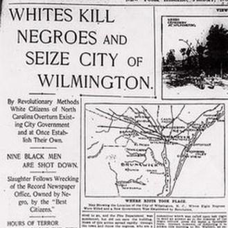 Wilmington massacre, NC