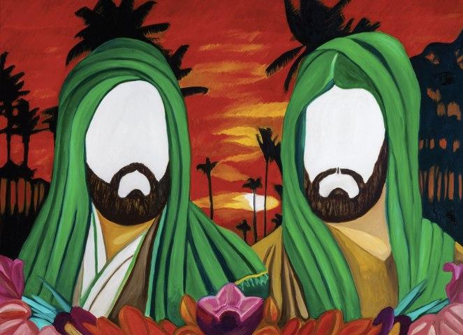 Hasan & Husain Essop, Two Imams (detail of installation), 2014. Photographer: Rob Duker