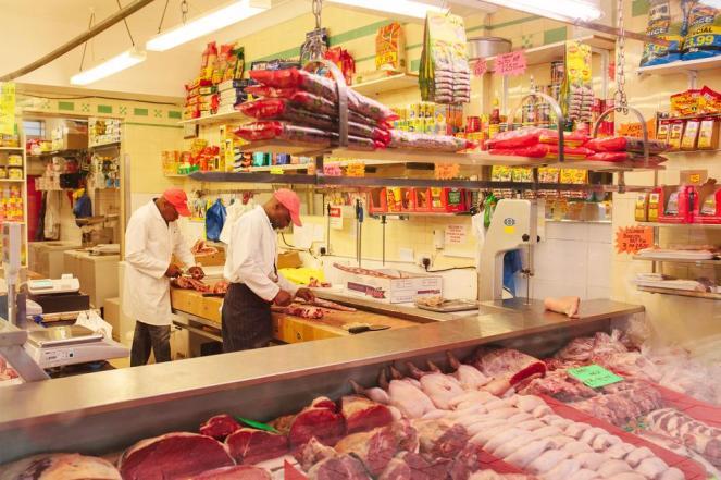 Photo by Riaz Phillips. Dennis' Butchers, Peckham
