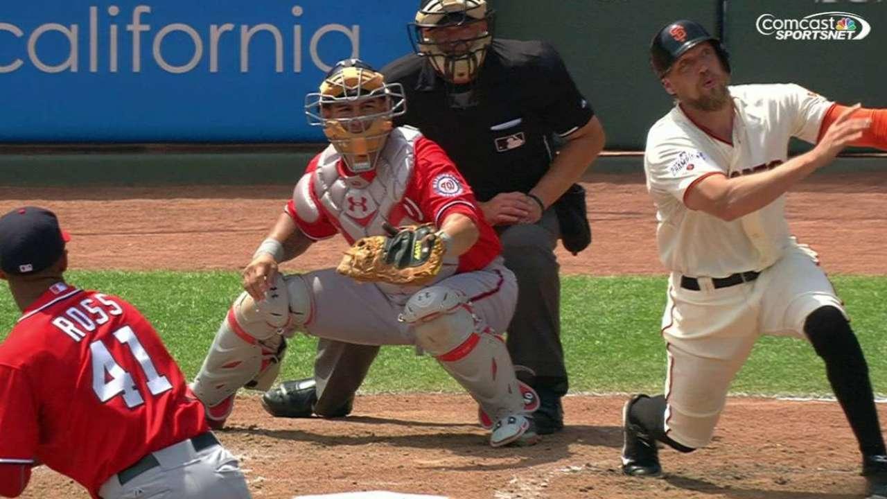 Giants' Hunter Pence Taking Time With Rehab MLB Com