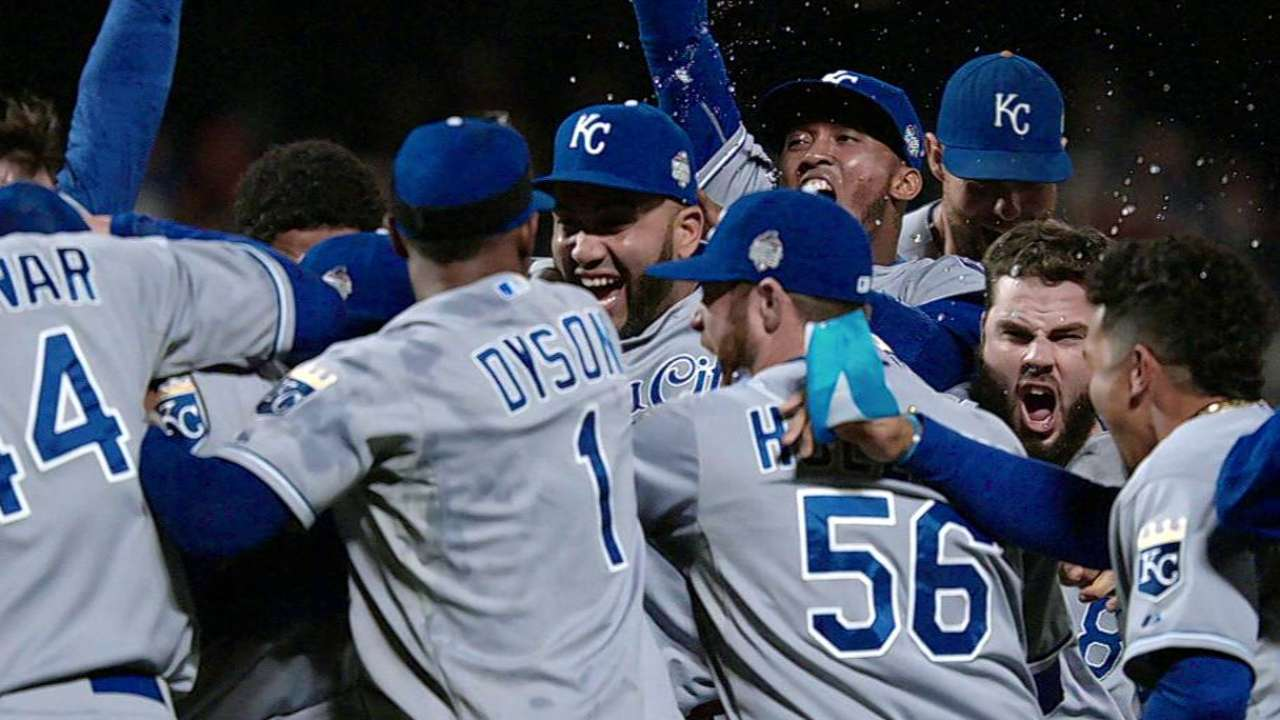 Image result for 2015 world series game 5 cain clears bases