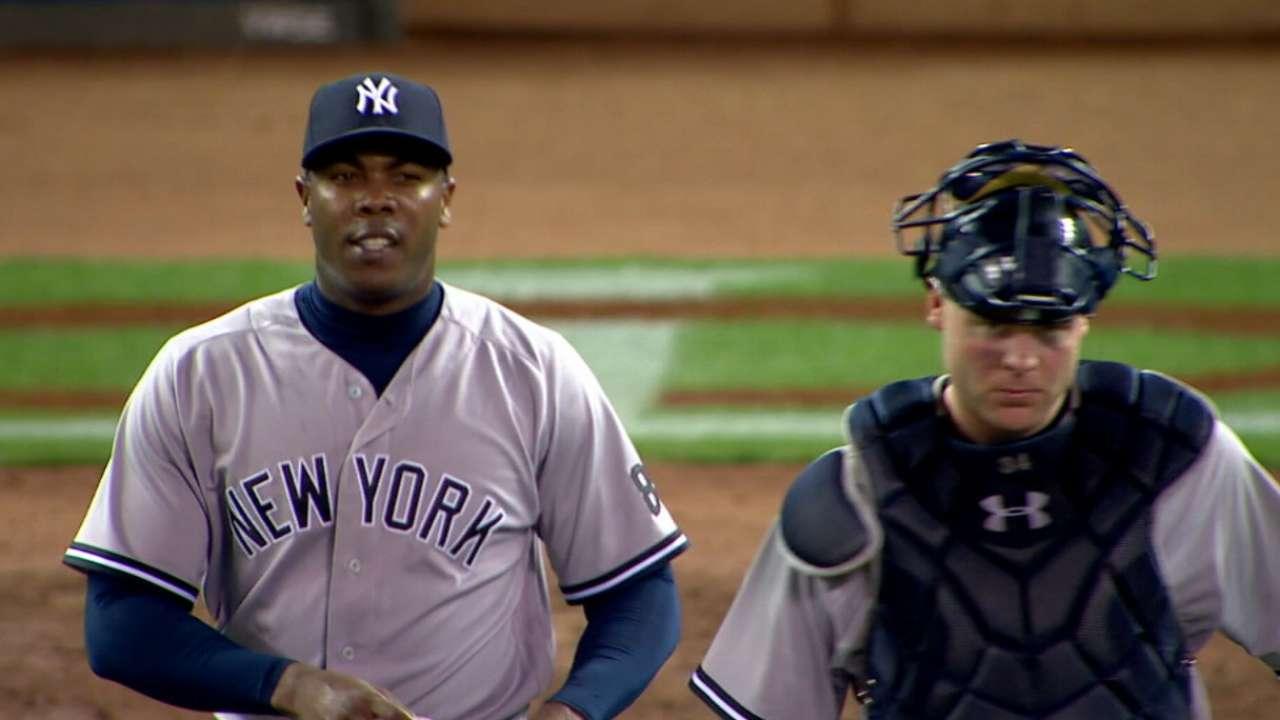 Aroldis Chapman se enfoca en los Yankees y mira hacia el futuro