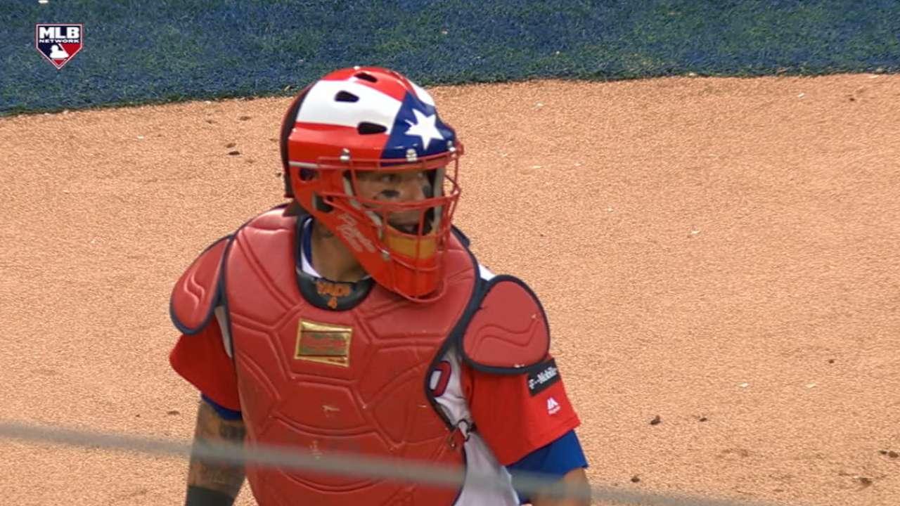 Yadier Molina Comes Up Big On Defense For P R MLB Com