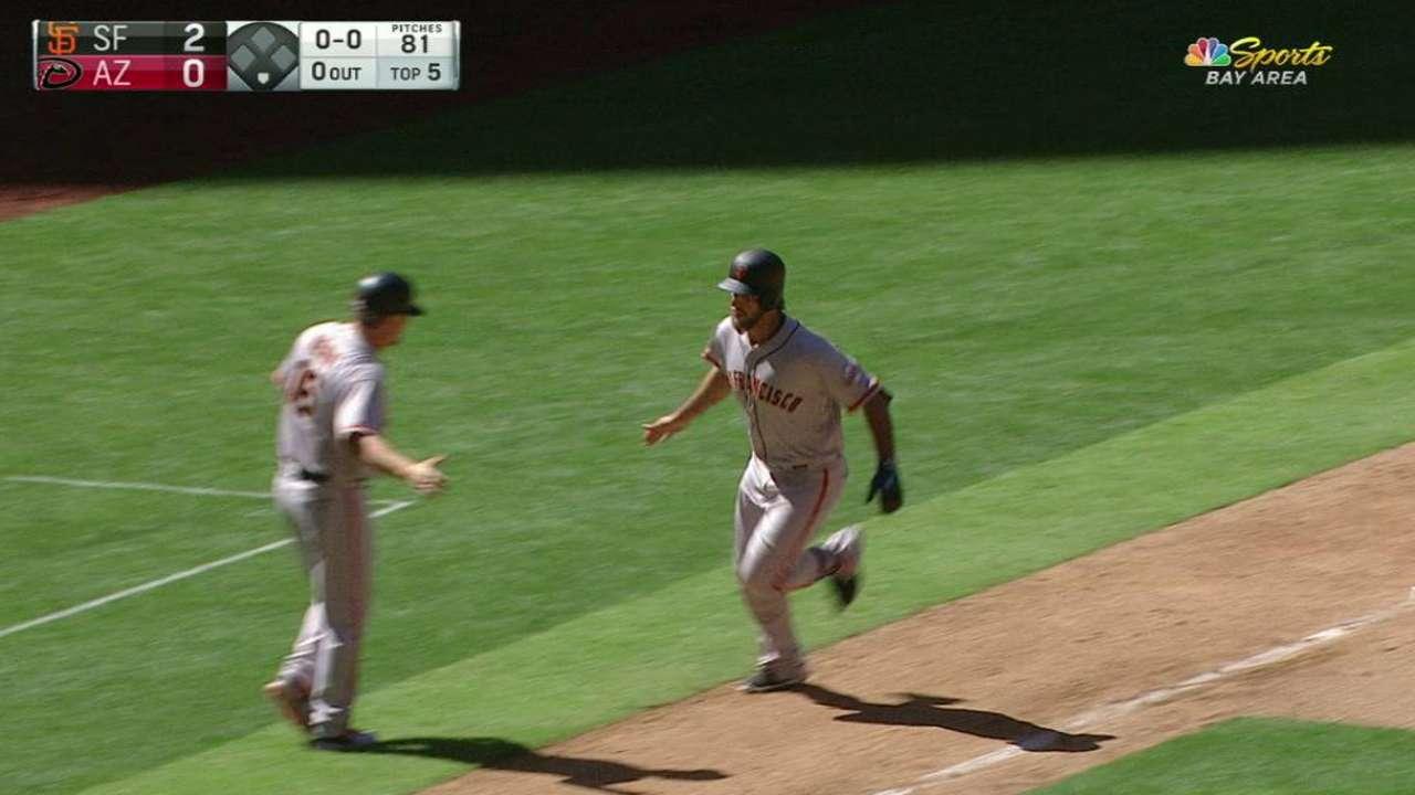 Madison Bumgarner Homers On Opening Day MLB Com
