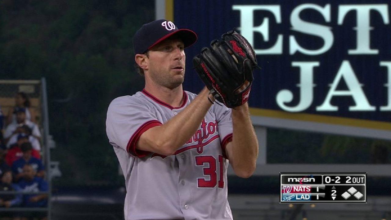Max Scherzer Strikes Out 14 In Win Vs Dodgers MLB Com