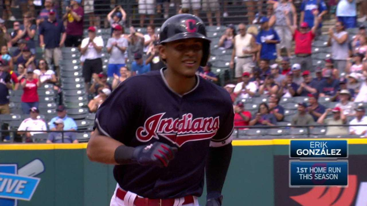 Indians' Bats Erupt In Rout Of Dodgers MLB Com