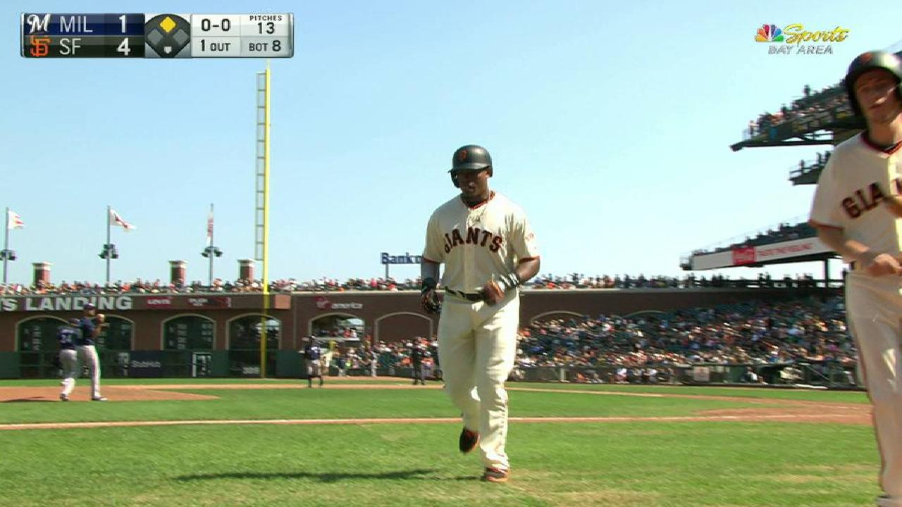 Giants Rally Late To Top Brewers Take Series San Francisco Giants
