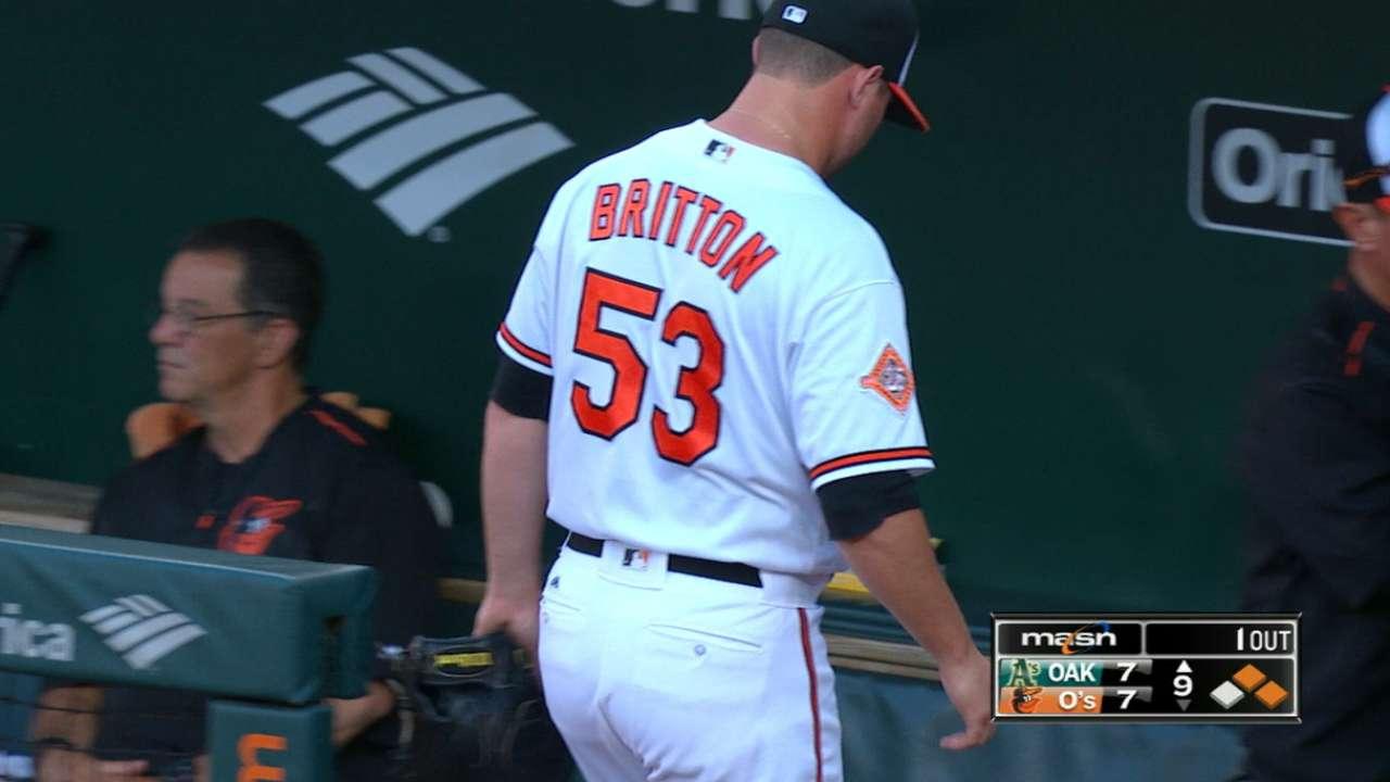 Orioles' Zach Britton Blows Save Against A's MLB Com