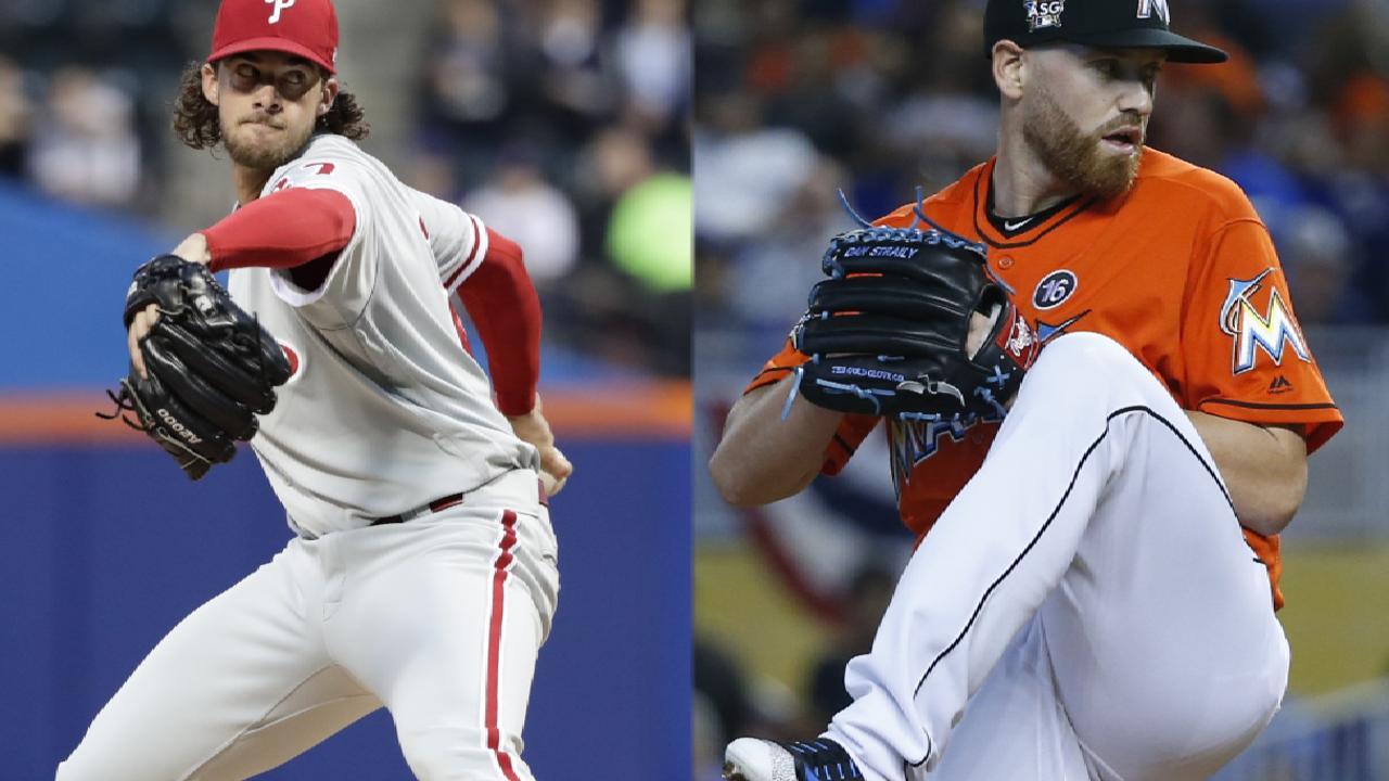 Nola Phillies eye series win vs Straily Marlins  MLBcom