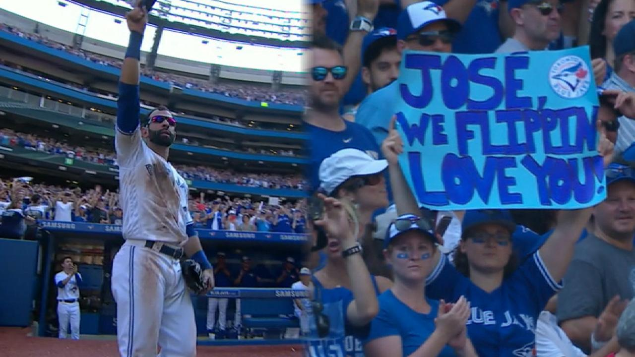 Blue Jays Honor Jose Bautista In Home Finale MLB Com