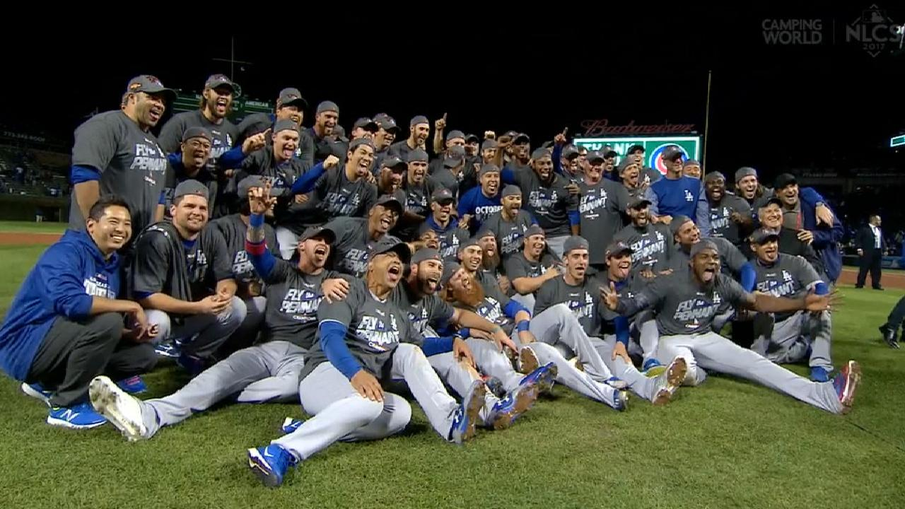 Image result for dodgers win NLCS