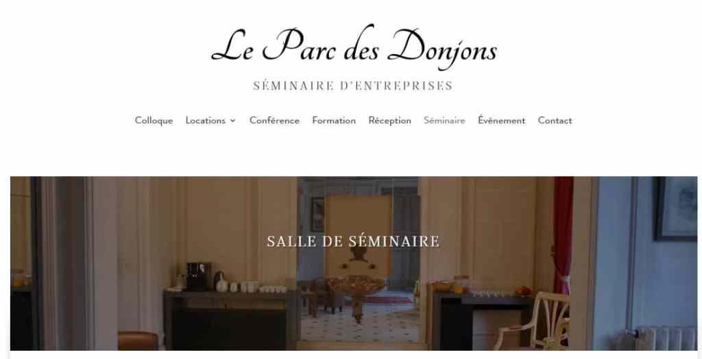 référencement google - creation site internet Mediadvance, parc des donjons