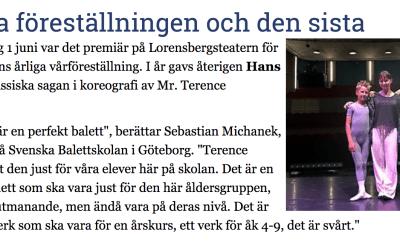 Dansportalen uppmärksammar skolans vårföreställning på Lorensbergsteatern