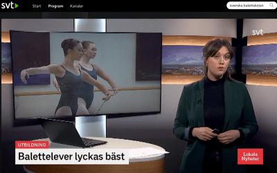 Nu även i SVT Landet Runt om elevernas topprestationer på Svenska Balettskolan!