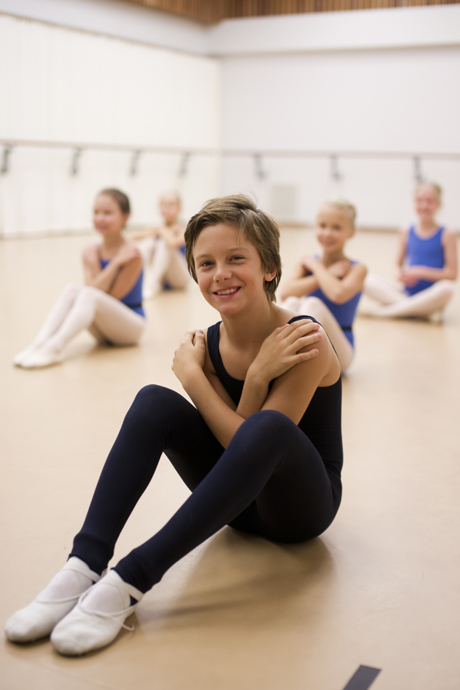 Auguste Marmus i årskurs 4 höstterminen 2012 på Svenska Balettskolan i Göteborg. Foto: Emmy Jonsson