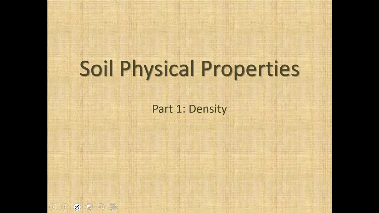 Soil Density Calculations MediaHub University Of