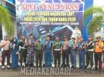 Foto bersama KUPP Baubau bersama instansi terkait setelah apel penutupan posko angkutan Nataru 2020, Foto : MEDIAKENDARI.com/Ardilan