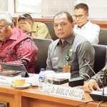 Gubernur Sultra, Ali Mazi (depan ketika dari kanan) saat menjadi narasumber dalam rapat bersama DPD RI. Ist